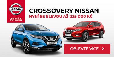 Crossovery Nissan se slevou až 225000 Kč